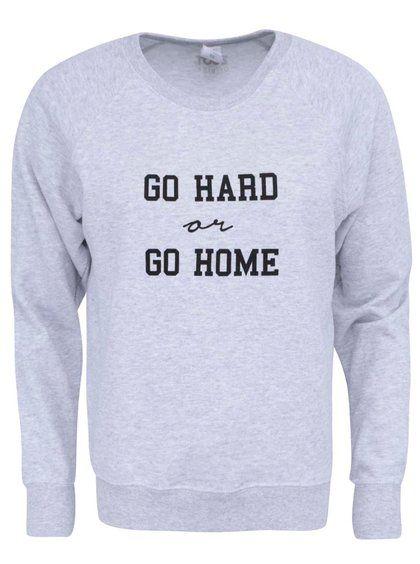 Sivá dámska mikina ZOOT Originál Go Hard Or Go Home 21,95€