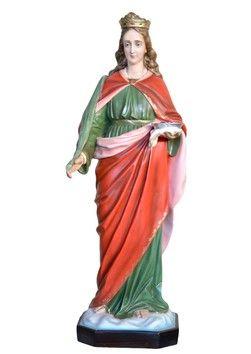 Statua S. Lucia cm. 130 altezza cm. 130 in vetroresina dipinta con colori acrilici e finiture ad olio disponibile anche con occhi di vetro La statua di Santa Lucia è disponibile al seguente link http://www.ovunqueproteggimi.com/collezione-statue/sante/lucia/