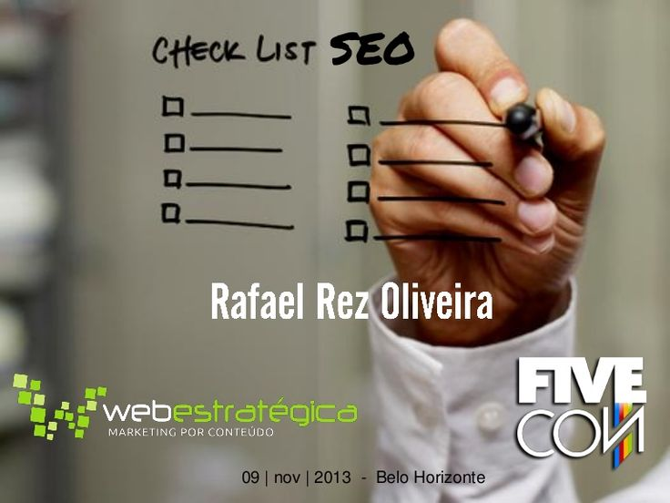 Rafael Rez Oliveira - Gerenciamento de projetos de SEO através de checklists