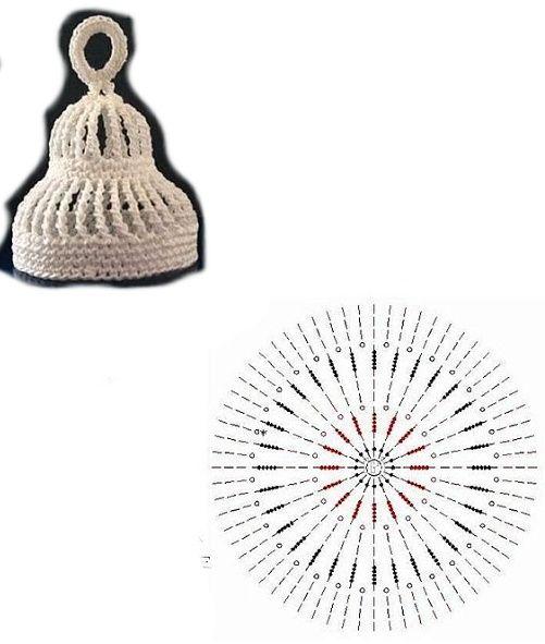 Crochet bell chart pattern