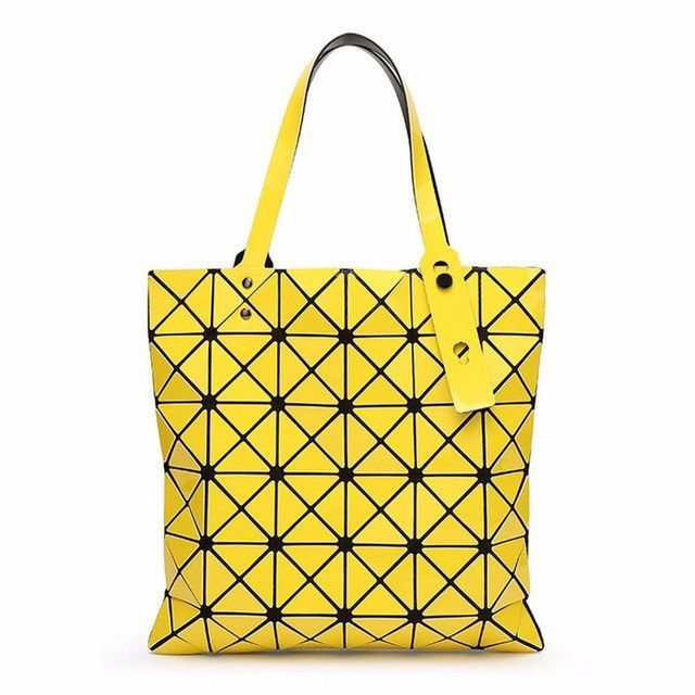 yutuo handbag baobao bag female folded geometric plaid bag bao bao fashion casual tote women handbag