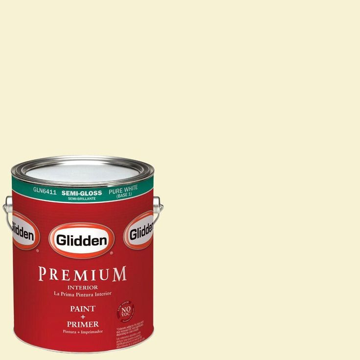 1 gal. #HDGY43 Soft Candlelight Semi-Gloss Interior Paint with Primer