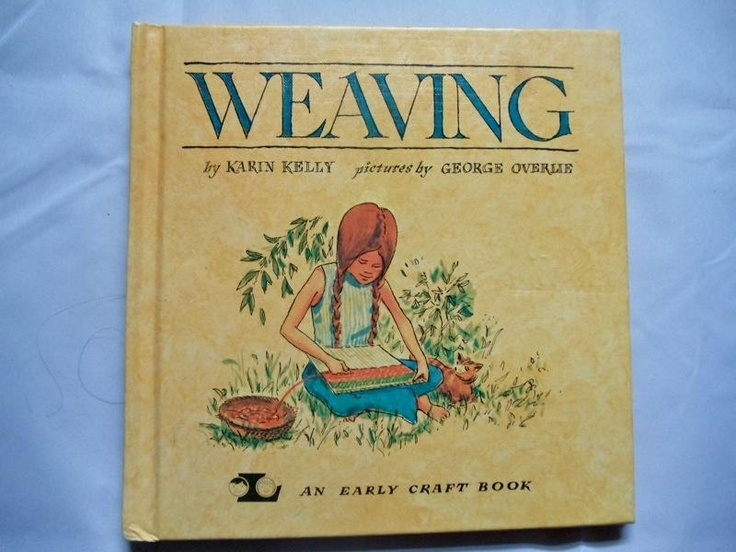 Vintage teach your child how to weave book. c. 1970.
