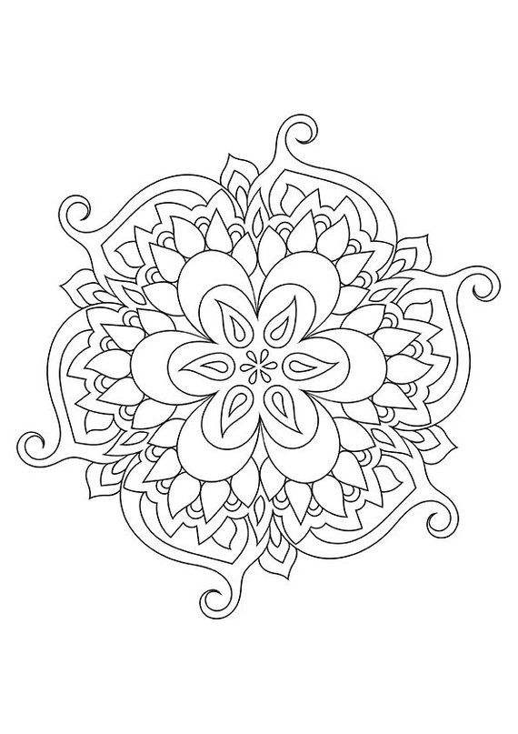 Mandala Coloring Page Printable Zen Coloring Page Doodle Etsy In 2020 Mandala Coloring Pages Pattern Coloring Pages Heart Coloring Pages