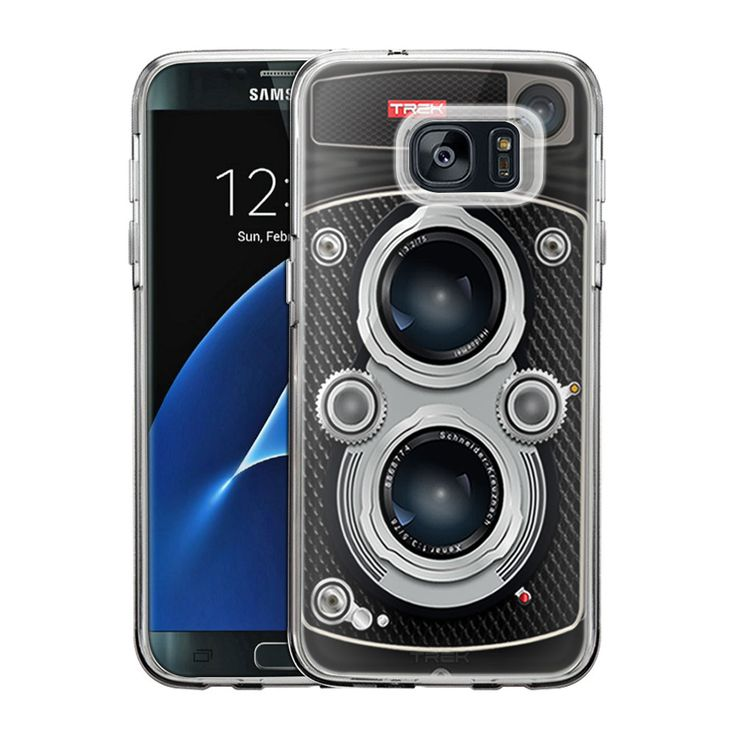 Samsung Galaxy S7 Edge Black Twin Reflex Camera Slim Case