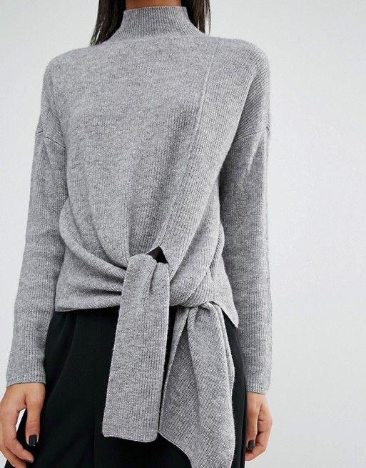 Whistles | Whistles Tie Side Rib Sweater