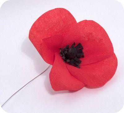 PerlillaPets: Tutorial: crepe paper poppy!