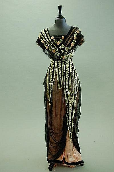 Evening dress ca. 1912  From Artfund