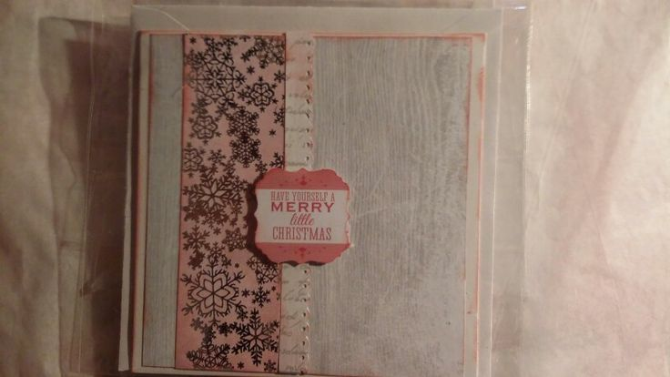 Christmas card using the Silver Bells papers from Kaisercraft.