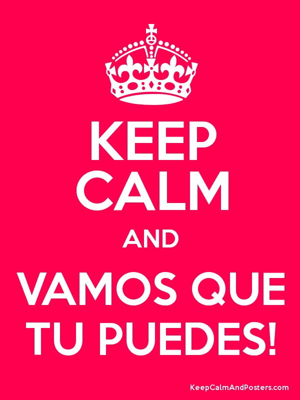 Keep Calm and VAMOS QUE TU PUEDES! Poster