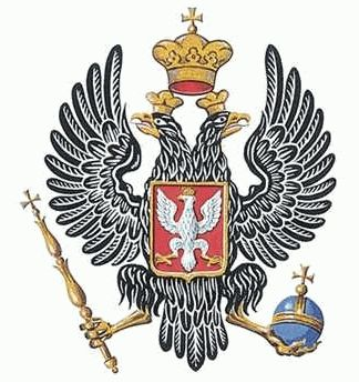 Coat of arms of Poland under Russian Imperial rule.