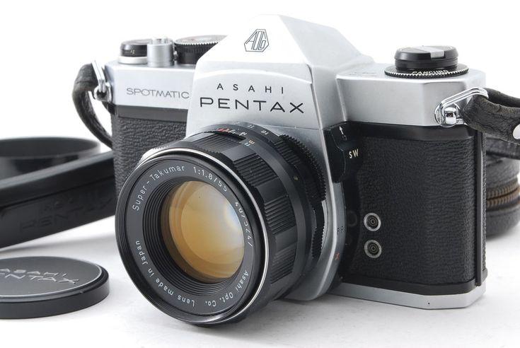 Pentax SPOTMATIC SLR w/ Super-Takumar 55mm f/1.8 Lens & Hood **EXC+++** #179 #PENTAX