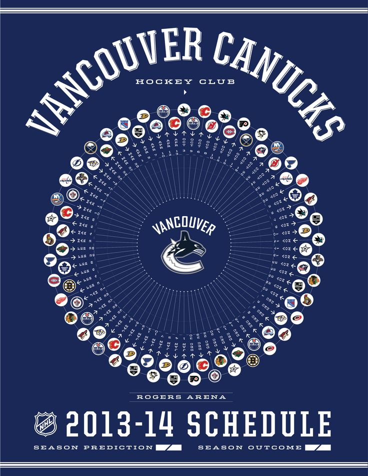 Vancouver Canucks 2013-14 Schedule