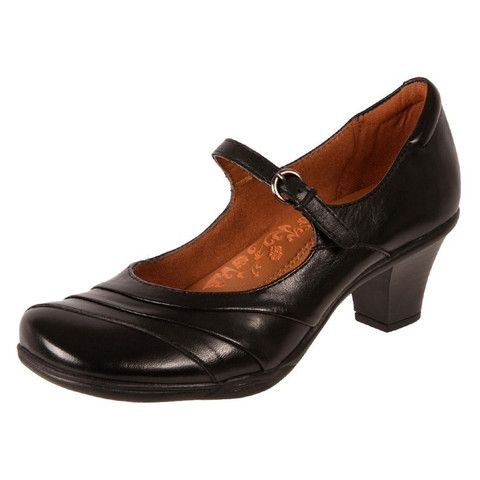 Planet Shoes Leather Mary Jane Addy Black | buy Work Shoes Online | The Shoe  Link