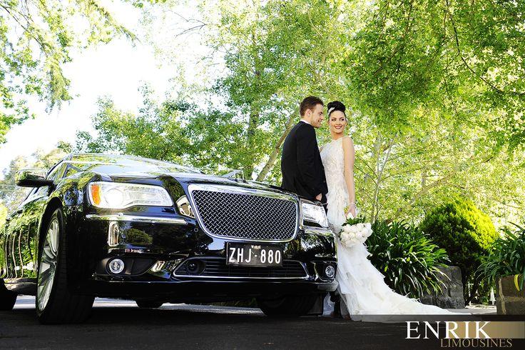 Luxury Chrysler sedan wedding car with @ICONPHOTOSMEL