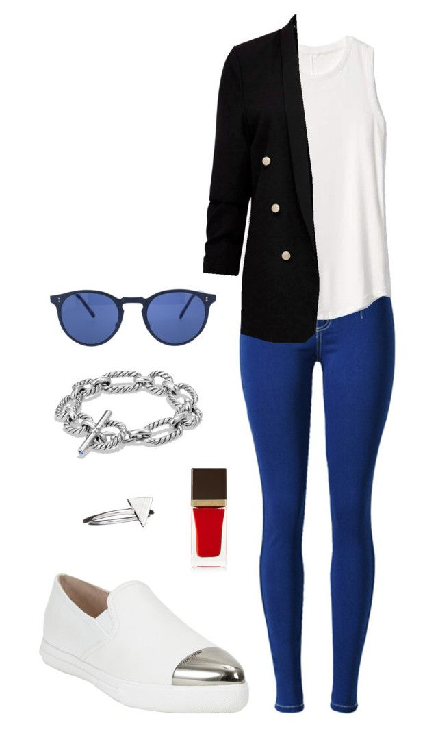 Street style by dalma-m on Polyvore featuring polyvore fashion style Gap Miu Miu David Yurman Rachel Jackson Oliver Peoples Tom Ford clothing