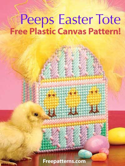 39 best plastic canvas easter spring images on pinterest free peeps easter tote plastic canvas pattern download from freepatterns give your negle Images