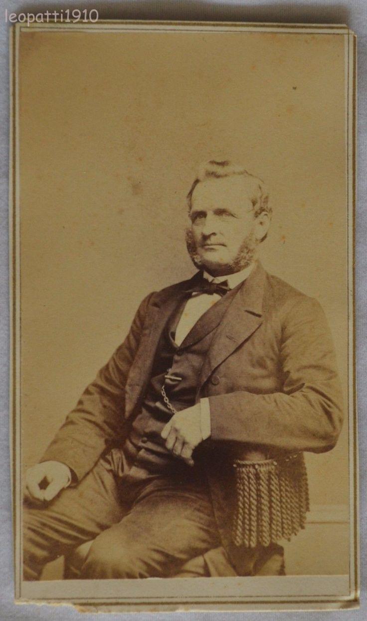 CDV Photo Man Chin Beard Mrs Moore New York City NY 1860s Civil War Era | eBay