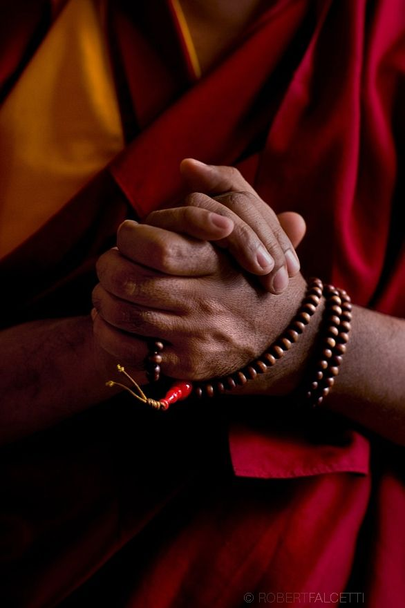 WATERTOWN, CT- FEBRUARY 29, 2009: The #Mala beads worn by Geshe Lozang Samdup who was born in Nubra Chakrasa, Ladakh in the north of India in the year 1962.