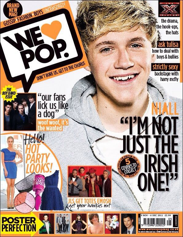 Niall Joran on a magazine cover
