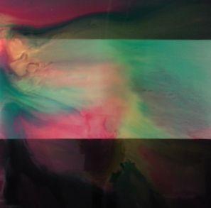 'Aurora Lights' series varnish on canvas 20cm x 120cm Sold