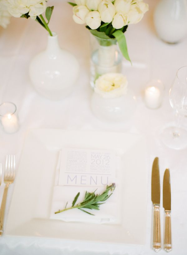 Crisp And Clean White Wedding Wedding Flower And