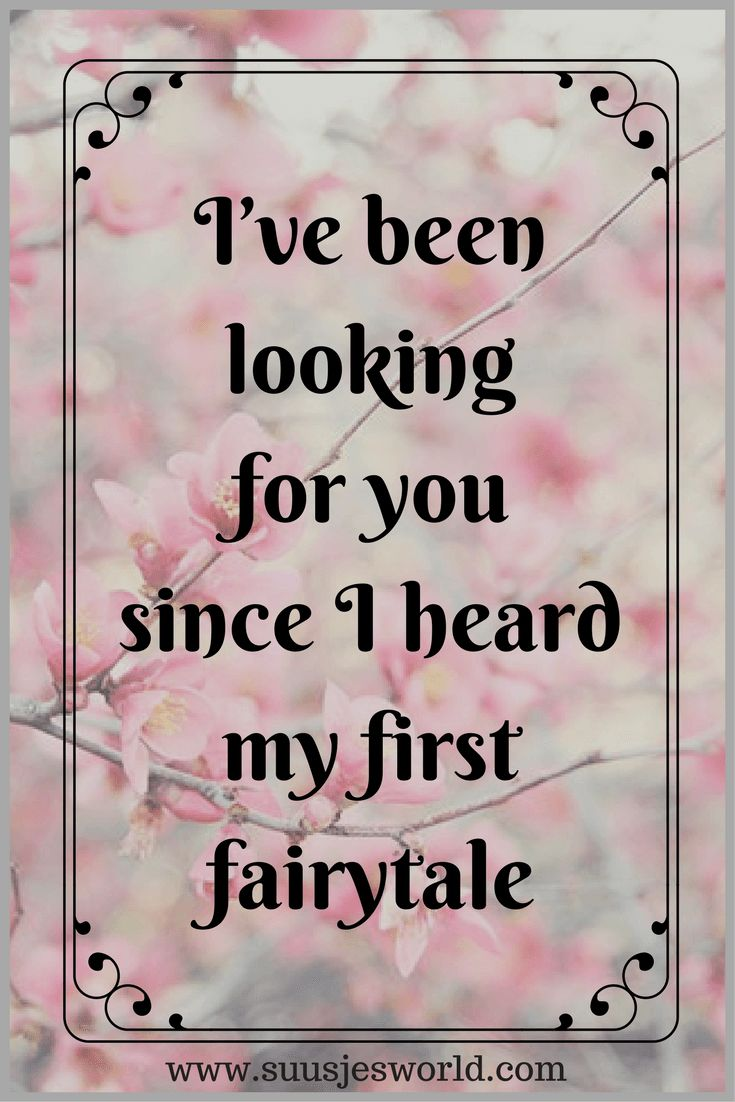 I've been looking for you since I heard my first fairytale