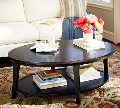 Pottery Barn Metropolitan Oval Coffee Table | Pottery Barn