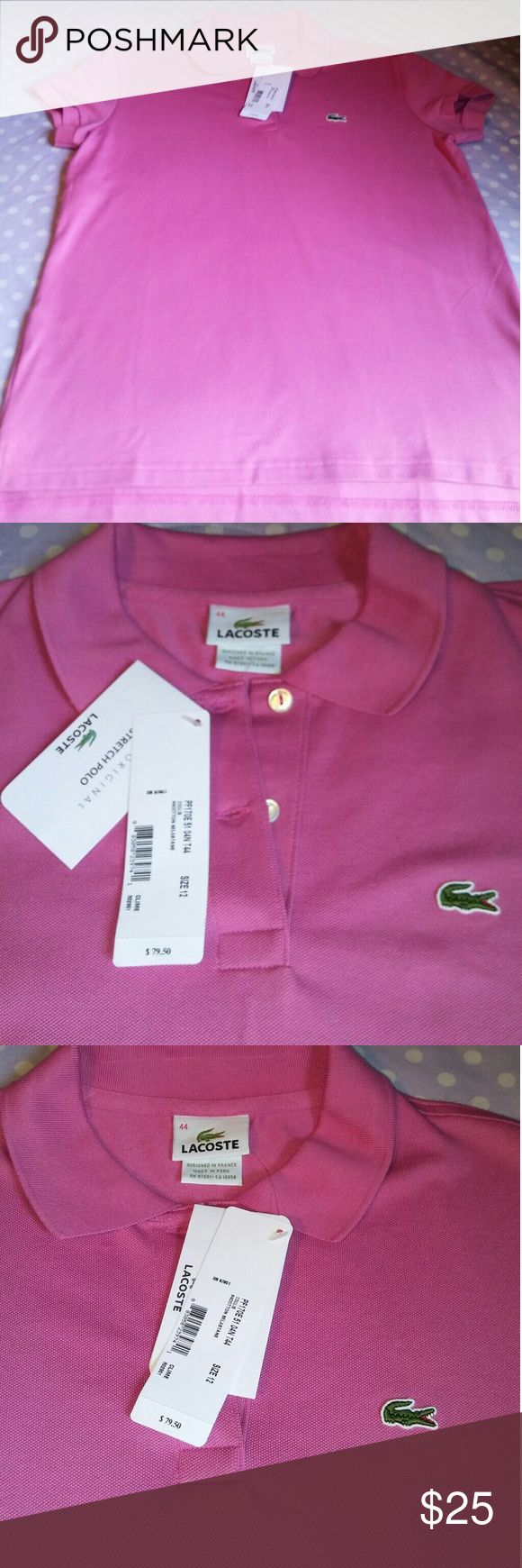 Ladies Polo Shirt Brand new Lacoste polo shirt, it is in excellent condition. Lacoste Tops Button Down Shirts