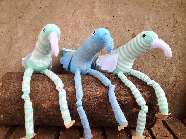 White Sock Birds R100 each https://www.facebook.com/snugglebuggoodies