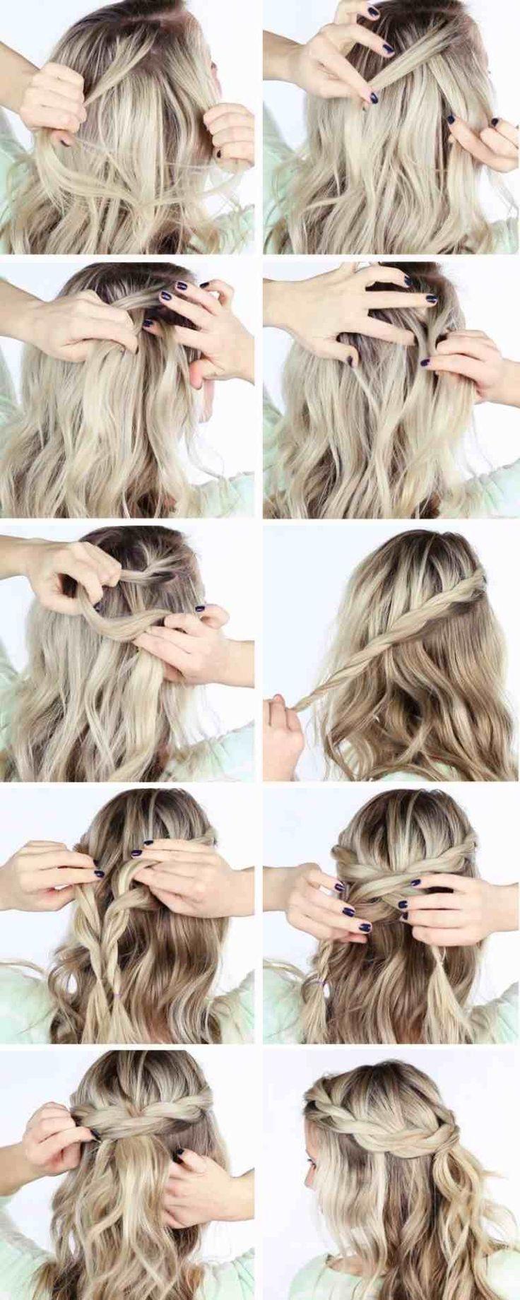 Tuto Hairstyle Cheveux moyens et longs en 9 idées faciles et rapides à réalis…