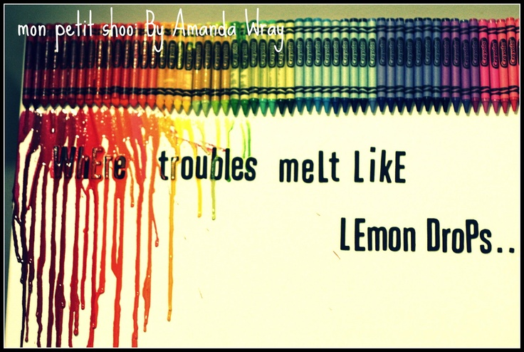 66 best melted crayons images on pinterest for Melted crayon art with quotes