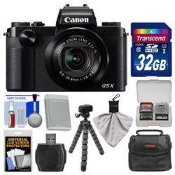 Price Compare Canon PowerShot G5 X Wi-Fi Digital Camera with 32GB Card  Case  Battery  Flex Tripod  Kit Best Price