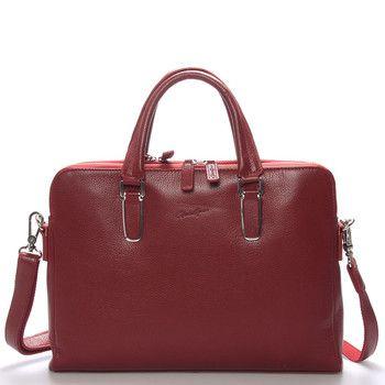 #Gerard Henon Červená  luxusní originální kožená taška přes rameno Gerard Henon pro muže co mají styl. Co jí říkáte? Je stylová, neformální, ale také elegantní a business. Taška je z hovězí kůže, je střední velikosti a má dvě kapsy, které se  zavírají se na zip. Uvnitř jsou hlavní přihrádky, dále menší kapsičky na drobnosti a jedna na zadní straně na zip.