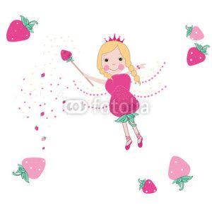 Peri Kızı Vektör Tasarımlarım * Strawberry fairy tale