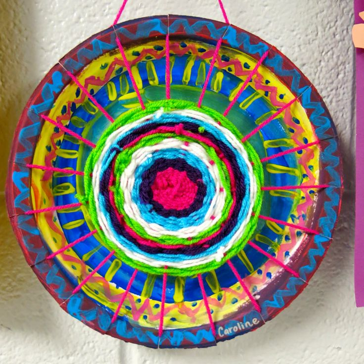 how to make paper plate loom