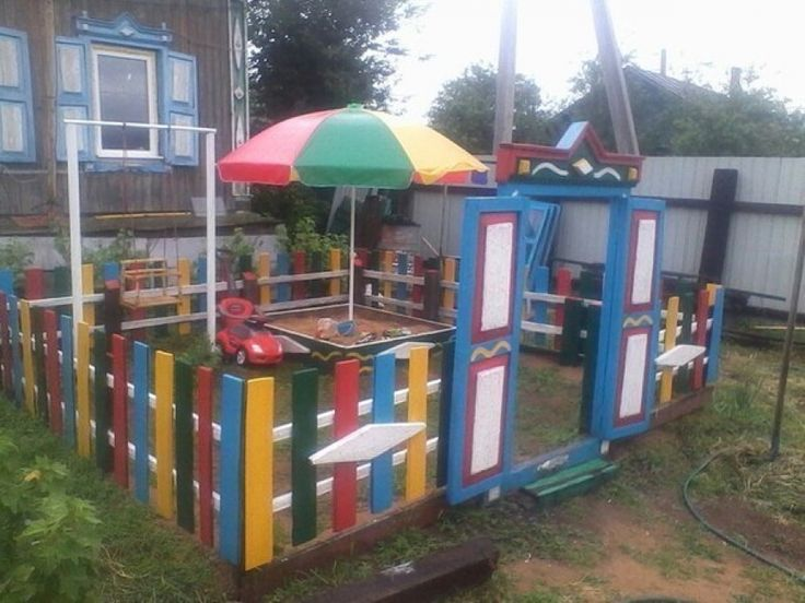 the arrangement of the Playground at the cottage