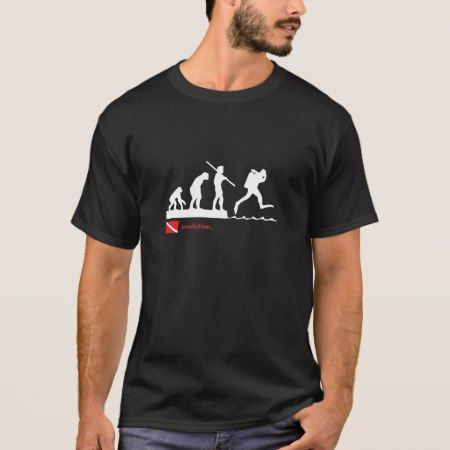 Scuba diving evolution t-shirt. T-Shirt - click/tap to personalize and buy