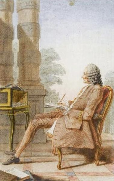 Carmontelle, Portrait of Jean-Philippe Rameau, 1760