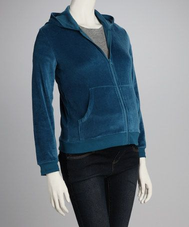 Take a look at this Teal Velour Maternity Zip-Up Hoodie by Lilo Maternity on #zulily today! $20 !!