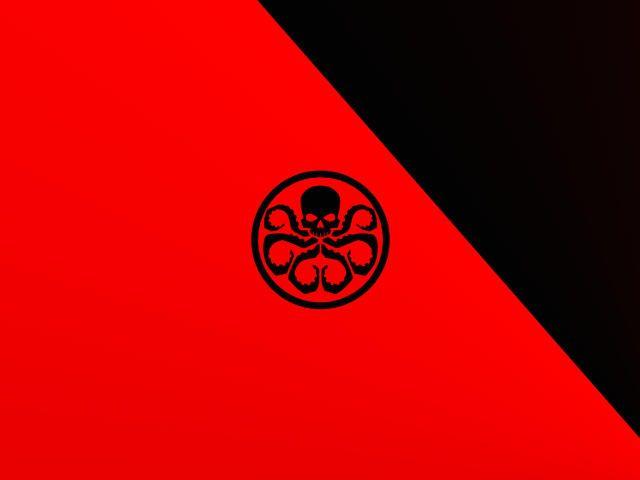 4k Minimalist Red Black Hd Hydra Comic Hail Hydra Minimal Minimal Wallpaper Wallpaper Minimalist Wallpaper