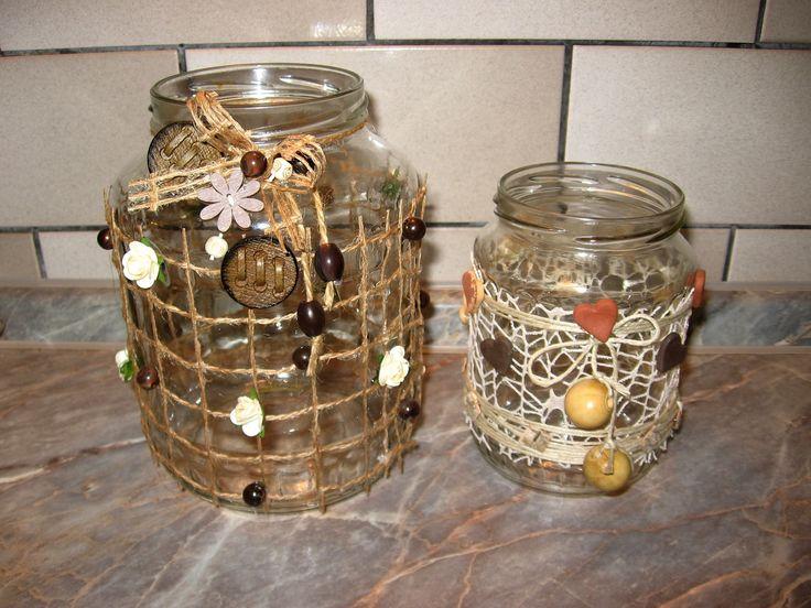 lucerničky na svíčku (ze zavařovacích sklenic)