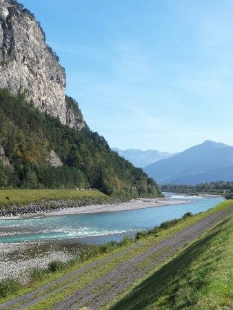 Cycling through Lichtenstein. Scenic overload! http://cycletraveller.com.au/australia/postcards/cycling-from-the-danube-to-swiss-alps-via-the-rhein-river
