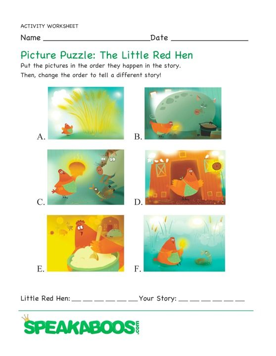 picture puzzle the little red hen speakaboos worksheets habit 3 put first things. Black Bedroom Furniture Sets. Home Design Ideas