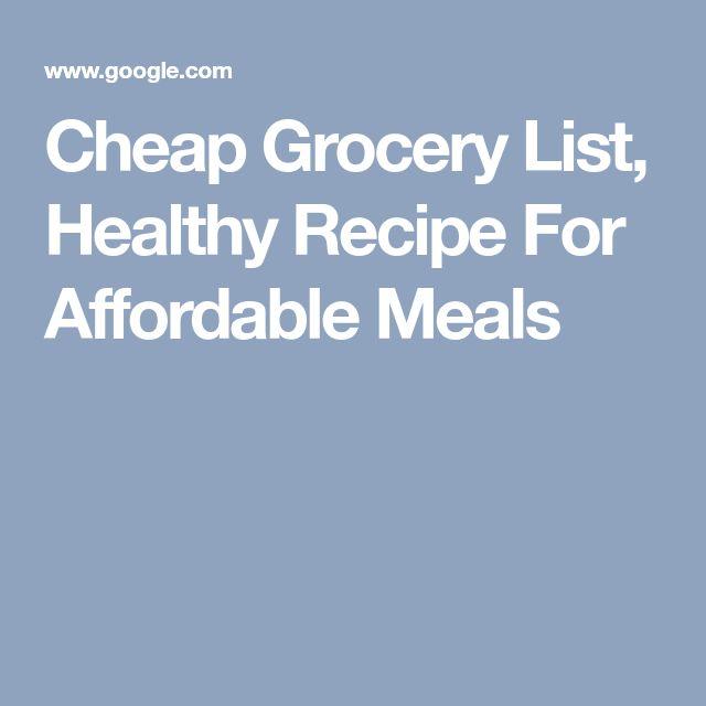 The 25+ best Cheap grocery list ideas on Pinterest Cheap healthy - sample shopping list