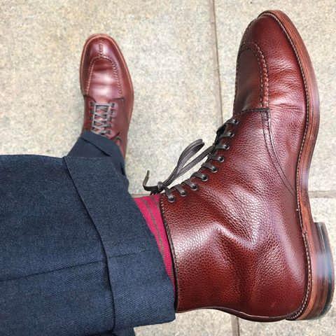 Alden x Brick+Mortar Scotch Grain NST boot. :  :  :  #aldenarmy #AldenPeople #scotchgrain #nst #tanker #plazalast #bootporn #sassoboot #brickandmortar #brickmortarseattle #madeinusa #jcrew #jcrewmens #madeinusa #shineyourshoes #shoeporn