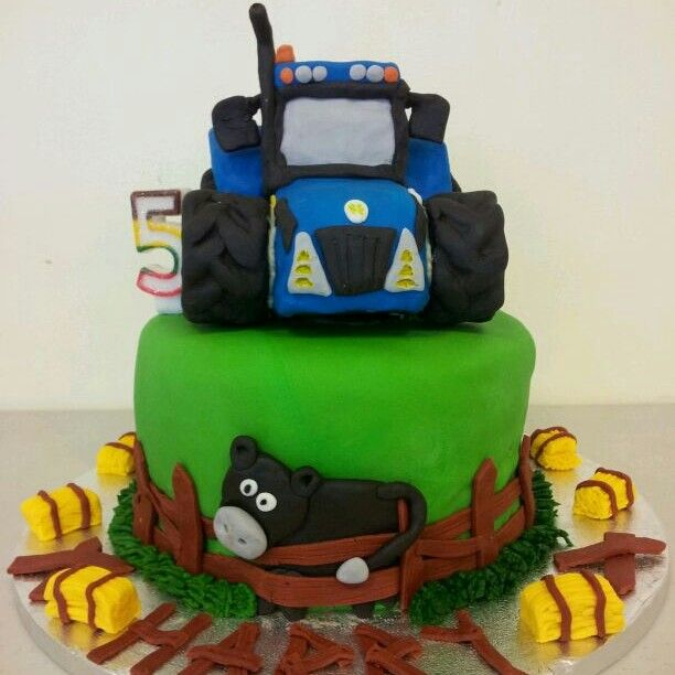 New Holland Tractor Cake Boy B Day Cakes Pinterest