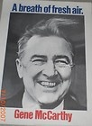 22 x 28 A BREATH OF FRESH AIR EUGENE MCCARTHY FOR PRESIDENT POSTER 1968 - 1968, 22quot, 28quot, BREATH, EUGENE, FRESH, MCCARTHY, Poster, PRESIDENT