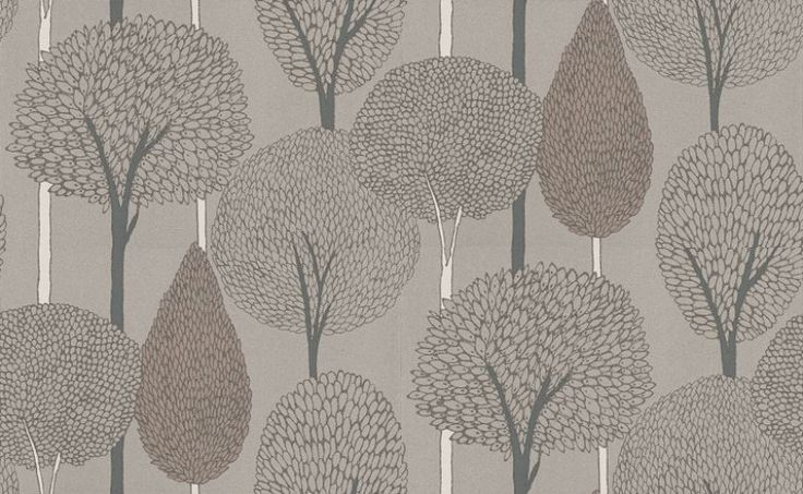 Silhouette Harlequin Wallpapers - Bold outlines of stylised trees, with an etched appearance and strong stripe effect created by the tree trunks.