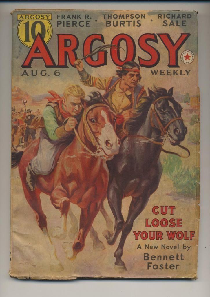 Argosy Weekly August 6 1938 Vintage Pulp Magazine VG Richard Sale